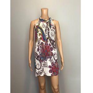 Veronica M paisley print mini dress